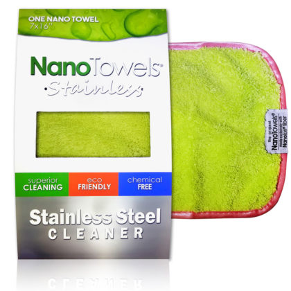 Nano Towels Stainless Steel Cleaner Green