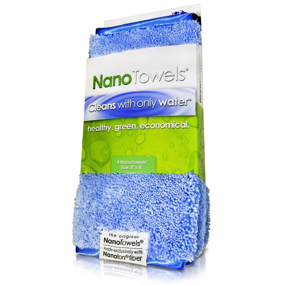"Nano-Towels-8x8"" 4-pack Nano Blue"