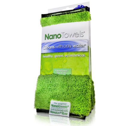 "Nano-Towels-8x8"" 4-pack Nano Green"