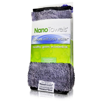 Nano Towels 8×8″ 4-Pack (Nano Grey)