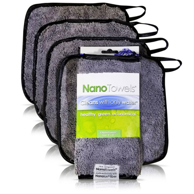 "Nano-Towels-8x8"" 4-pack Nano Grey"