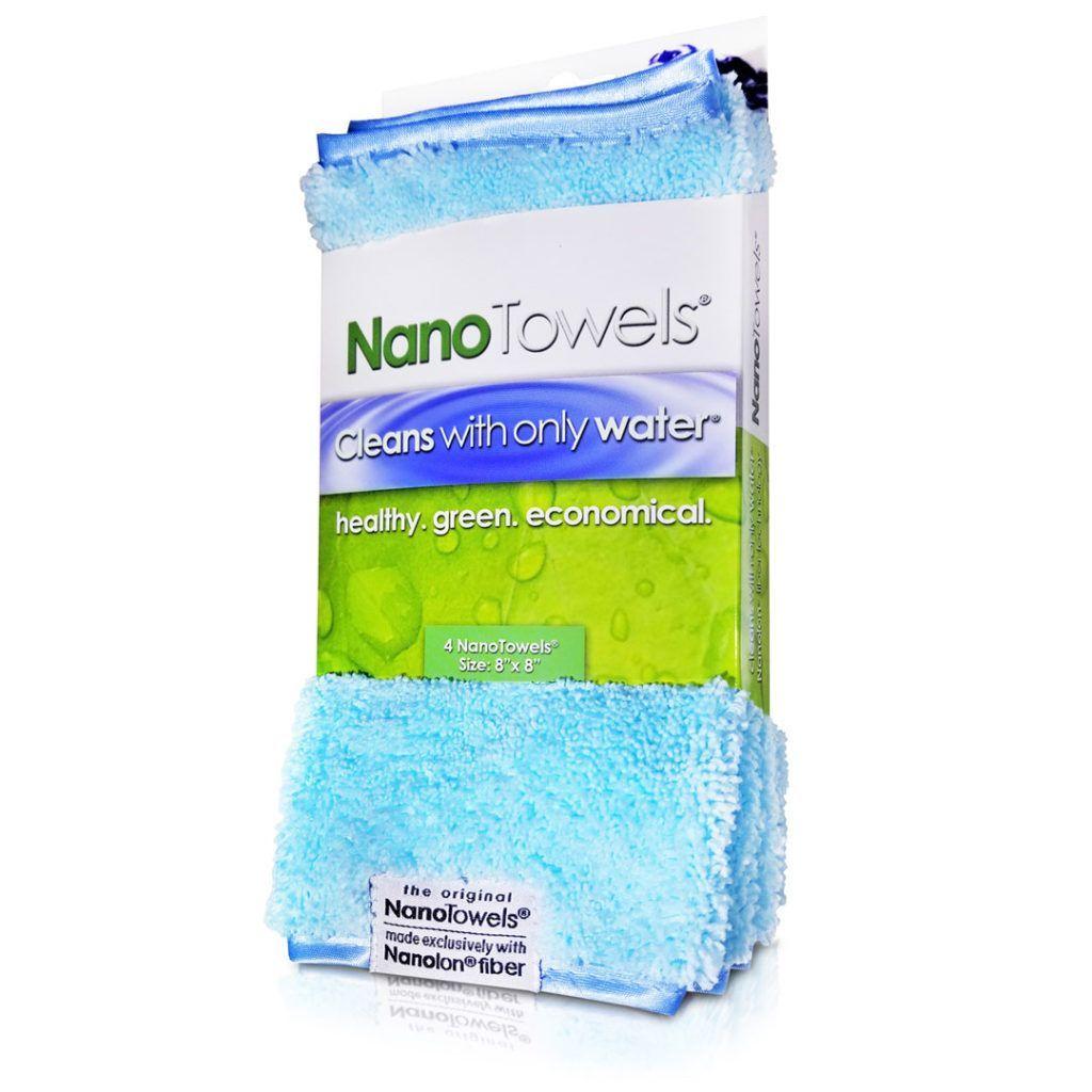 "Nano-Towels-8x8"" 4-pack Seashore Teal"